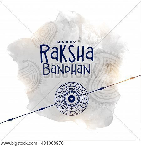 Raksha Bandhan Watercolor Greeting Design Vector Illustration