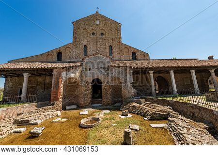 Facade Of The Basilica And Cathedral Of Santa Maria Assunta In Venetian-byzantine Style (639) In Tor