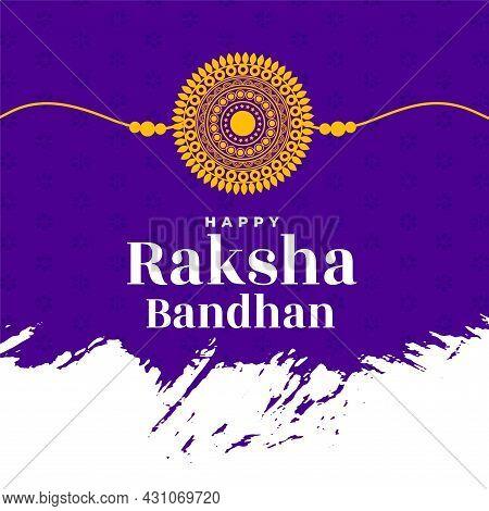 Traditional Raksha Bandhan Festival Greeting Design Vector Illustration