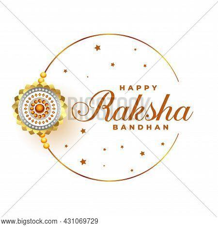 Happy Raksha Bandhan Festival Greeting Design Vector Illustration