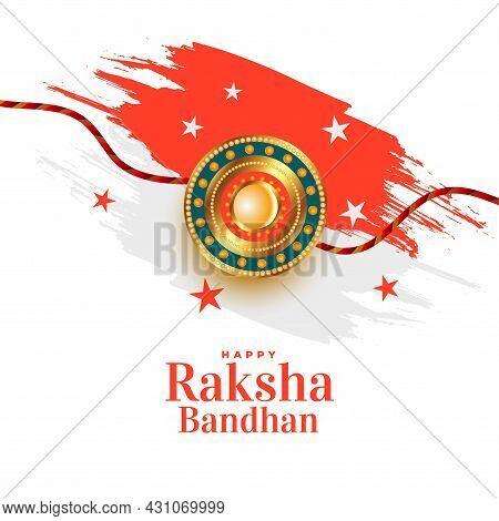 Raksha Bandhan Traditional Festival Card Design Vector Illustration