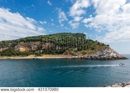 Palmaria Island (isola Di Palmaria) Seen From Porto Venere Or Portovenere Town, Unesco World Heritag