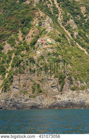 Coast Of The Cinque Terre With The Small Rural Village Of Monesteroli, Famous For Its Staircase Over