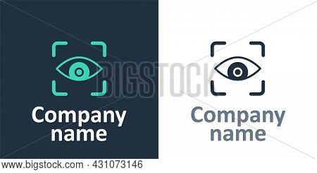 Logotype Eye Scan Icon Isolated On White Background. Scanning Eye. Security Check Symbol. Cyber Eye