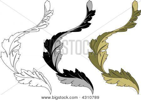 Stylized Turning Leaf
