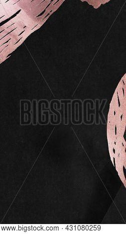 Dark tone contemporary Memphis textured  mobile phone wallpaper illustration