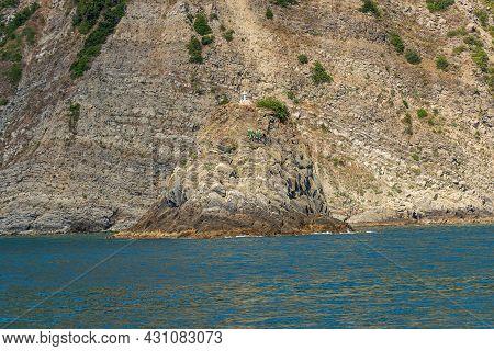 Cliffs And Mediterranean Sea (scoglio Ferale), Coast Of The Cinque Terre National Park, Unesco World