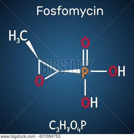 Fosfomycin, Phosphomycin, Phosphonomycin Molecule. It Is Synthetic Antibiotic With Antimicrobial, Ba
