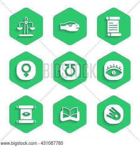 Set Life, Ancient Magic Book, Comet Falling Down Fast, Masons, Scroll, Venus, Decree, Parchment, And