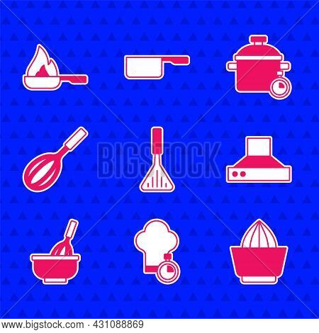 Set Barbecue Spatula, Chef Hat, Citrus Fruit Juicer, Kitchen Extractor Fan, Whisk With Bowl, Cooking