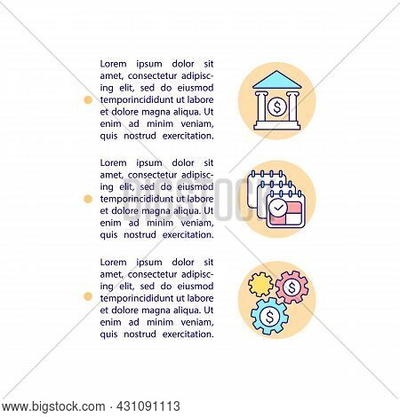 Utilize Transferred Csr Funds Concept Line Icons With Text. Csr Provision. Ppt Page Vector Template