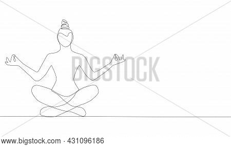 Self-drawing A Simple Animation Of One Continuous Exercise Of Drawing One Line, A Person Takes Up Yo
