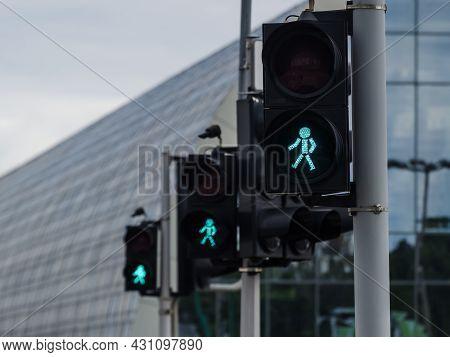 Traffic Light - Signaling At The Pedestrian Crossing