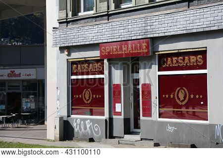 Wuppertal, Germany - September 19, 2020: Caesars Spielhalle In Wuppertal, Germany. In 2018 Almost 9,