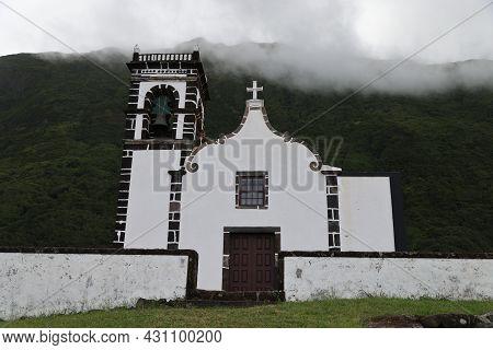 The Ermida De Santo Cristo In The Island Of Sao Jorge In The Azores. High Quality Photo