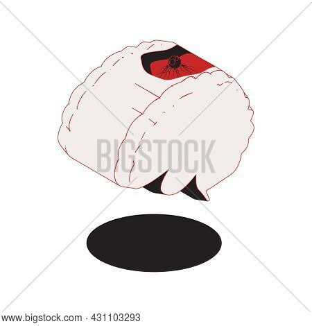 Oncology Isometric Composition With Isolated Image Of Human Brain Having Cancer Vector Illustration