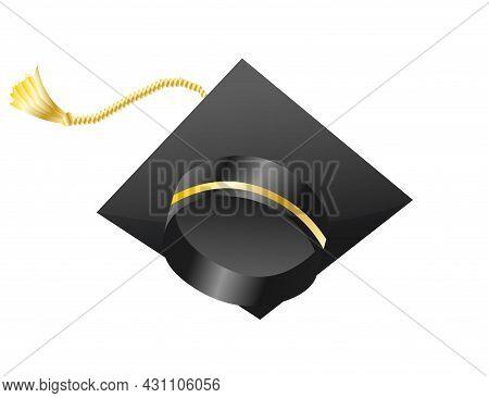 Graduation Cap. Element For Degree Ceremony And Educational Programs Design. Graduation University O
