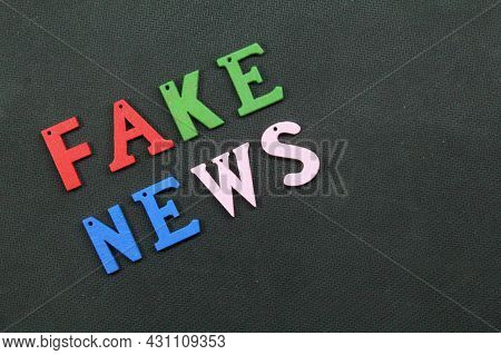 Colored Letters With The Words Fake News