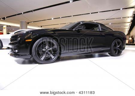 Chevy Black Camaro Concept Detroit Auto Show 2009