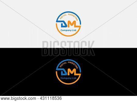 Abstract Dm Letter Initial Modern Logo Design Template