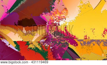 Abstract Art. Best Wall Paper For Interior Decoration. Design For T Shirt, Bed Sheet, Table Cloth, C
