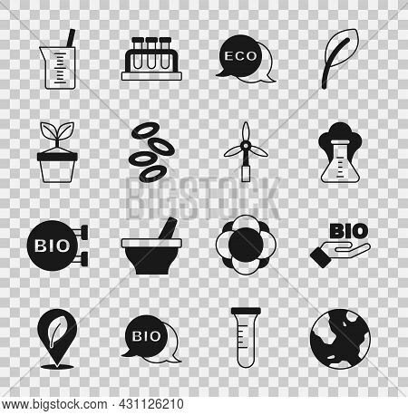 Set Earth Globe, Bio Healthy Food, Chemical Explosion, Label For Eco, Hemoglobin, Plant Pot, Laborat
