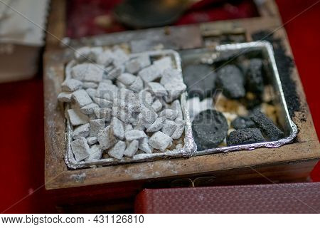 Accessories For The Christening Of Children Icons Of Candles, The Ortodox Church. Accessories For Th