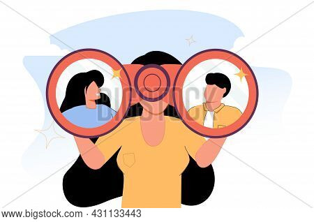 Searching For Candidate, Hr Human Resources Find People To Fill In Job Vacancy, Finding Customer Or