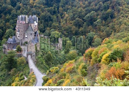 Ancient German Castle In The Autumn