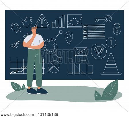 Business Decisions Mess And Information Data Chaos As Strategy Confusion Tiny Person Concept. Compan
