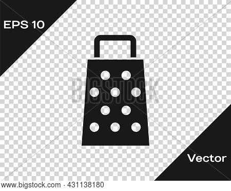 Black Grater Icon Isolated On Transparent Background. Kitchen Symbol. Cooking Utensil. Cutlery Sign.