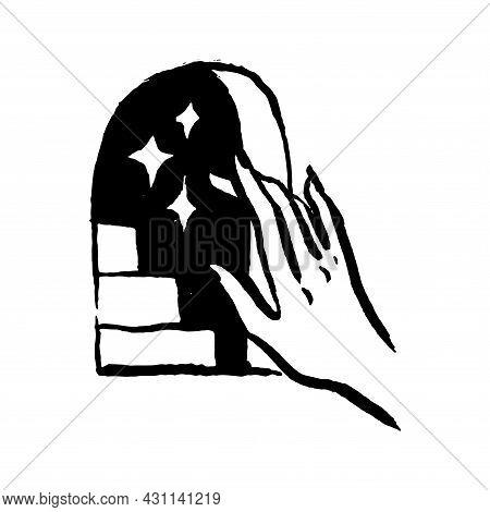 Mysticism Witchcraft Occult Hand Drawn Illustration Set