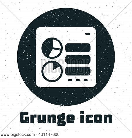 Grunge Computer Api Interface Icon Isolated On White Background. Application Programming Interface A