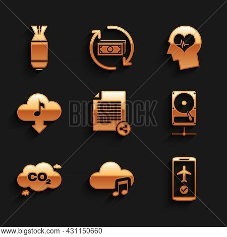 Set Share File, Music Streaming Service, Flight Mode The Mobile, Hard Disk Drive On Sharing Network,