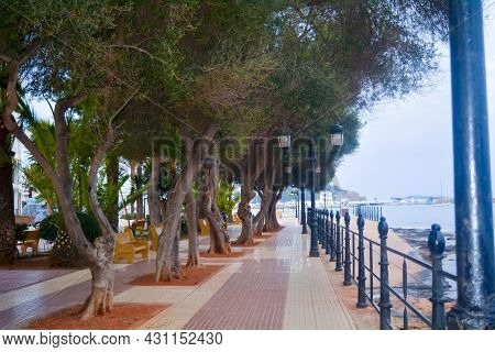 Promenade In Santa Eularia, Full Of Tranquility With Beautiful Summer Colors