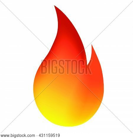 Vector Isolated Fire Emoji, Fire Ball, Icon