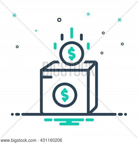 Mix Icon For Charity Contributions Helpful Fund Donate Donation Helping-hand Dollar Money