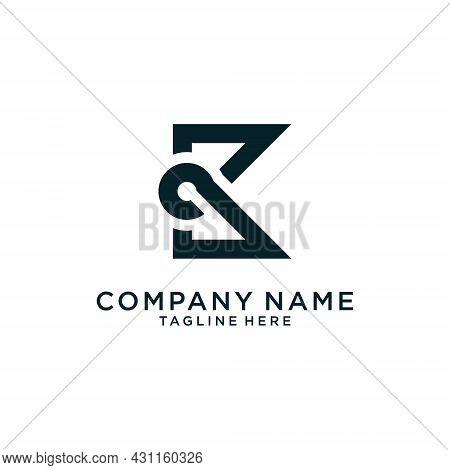 Initial K Letter Logo Design Concept. Vector Abstract Letter K Logo. Design Concept Letter K Templat