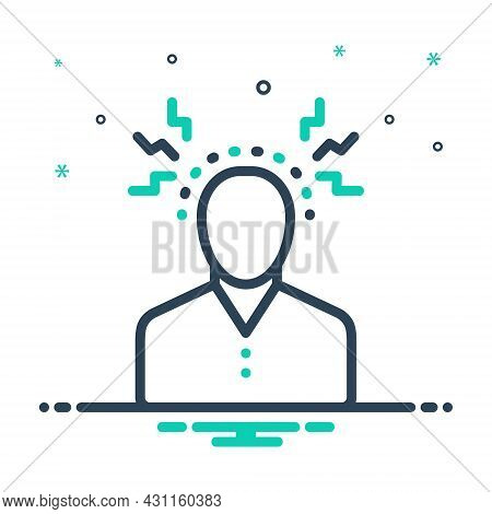 Mix Icon For Psychological Head Optimistic Brain Epileptic Apoplectic Depression Sickness Disease