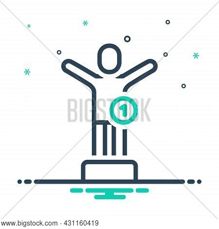 Mix Icon For First Winner Sooner Heretofore Success Come-first In-the-first-place