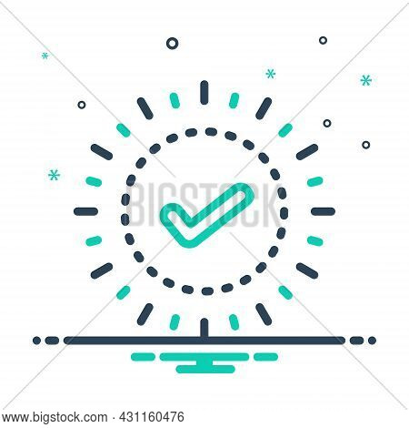 Mix Icon For Check True Checklist Mark Sign Choice Accept Agree Approved Confirm