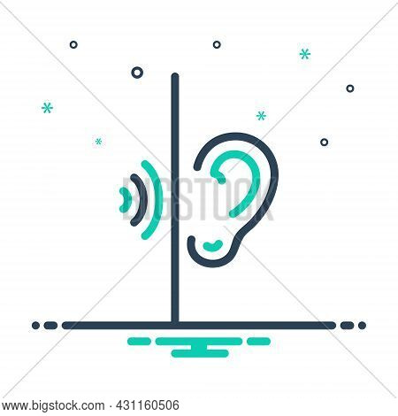 Mix Icon For Listen Hark Hear Hear-out Keep-one's-ears-open Be-all-ears  Sense Waves