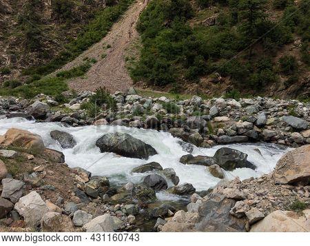 Bluewater River In Kalam Swat Valley Pakistan