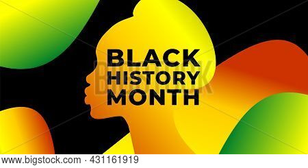 Black History Month. Vector Web Banner, Poster, Card For Social Media, Networks. African-american Wo