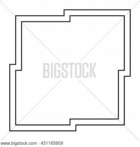 Abstract Frame On White Background. Vector Illustration
