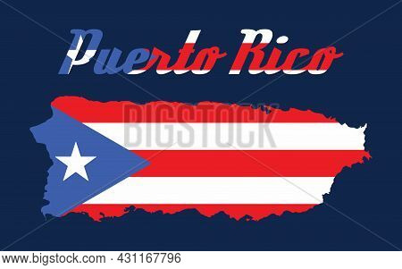 Puerto Rico Flag Map Vector Design Eps Cs6
