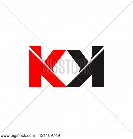 Letter Mk  Good For Your Brand Identity Product With Good Visibility