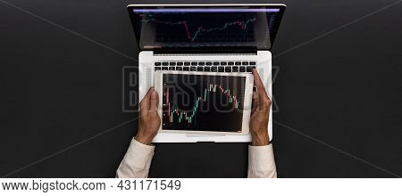 Modern Cryptocurrency. Finance Application For Sell, Buy And Analysis Profit Dividend Statistics. In