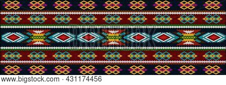A Traditional, Ethnic Ornament In Which Rich Colors Attract Luck And Wealth. The Ornament Looks Grea