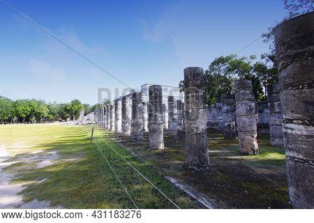 Mayan Pyramid In Chichen Itza Ruins, Yucatan, Mexico